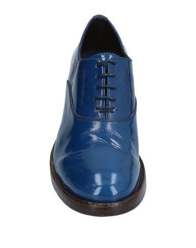 Open Closed Shoes Stringate Donna Scarpe Blu