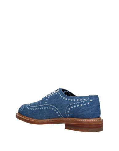 À Lacets Clergerie Chaussures Bleu D'azur Robert HCpqExc