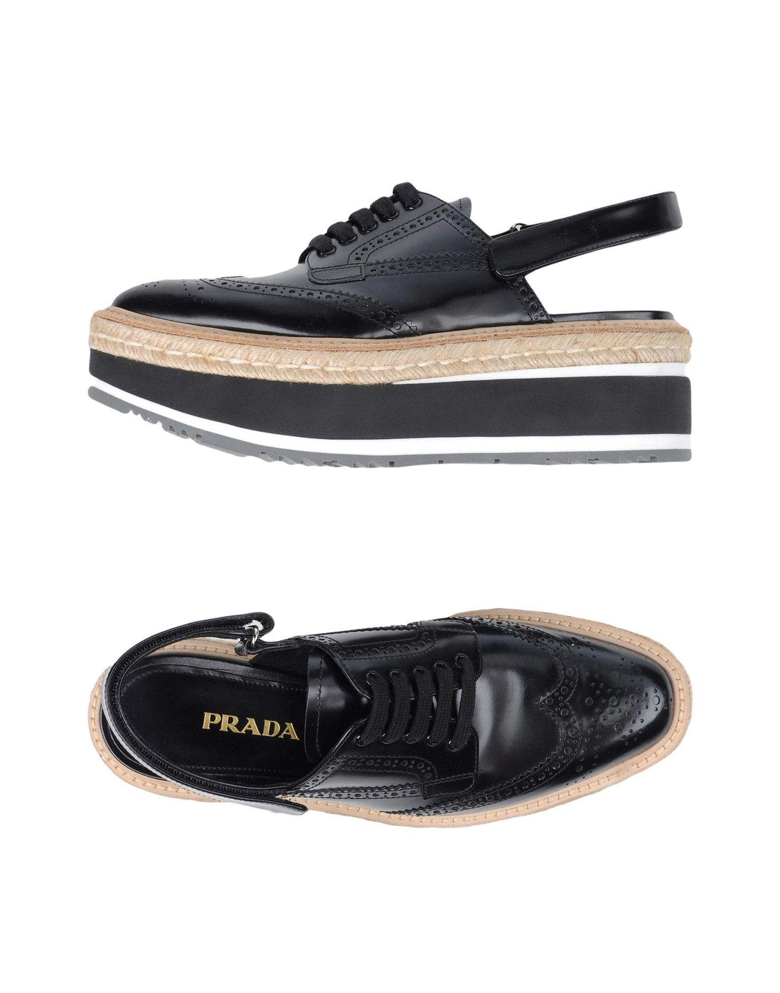 7609cc797b07d Chaussures À Lacets Prada Femme Chaussures À Lacets Prada sur ...