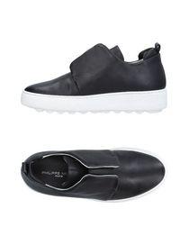 Chaussures De Sport Pour Les Femmes En Vente, Noir, Cuir, 2017, Modèle 37 Philippe