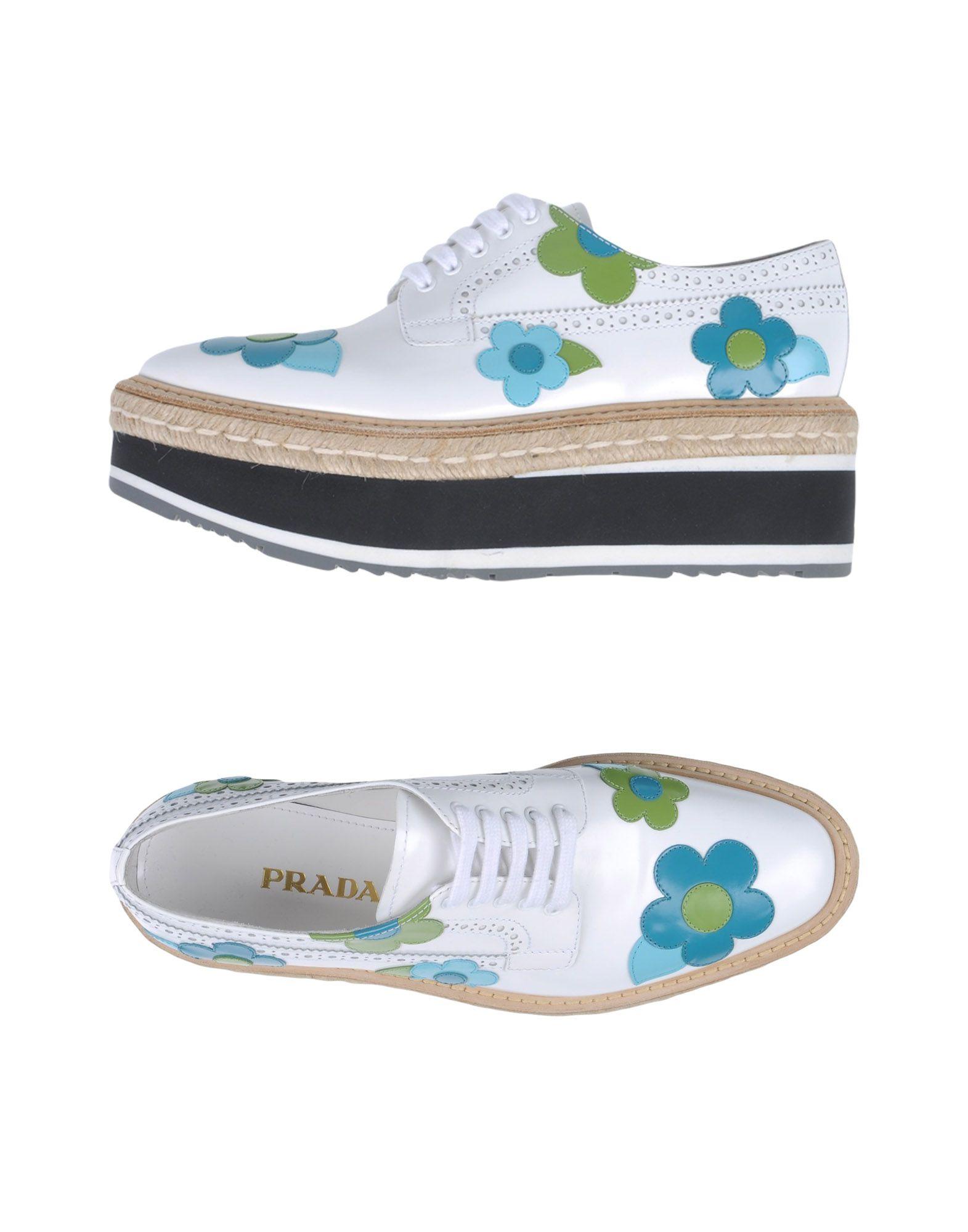 Prada Schnürschuhe aussehende Damen  11343894CQGünstige gut aussehende Schnürschuhe Schuhe 0c7c28