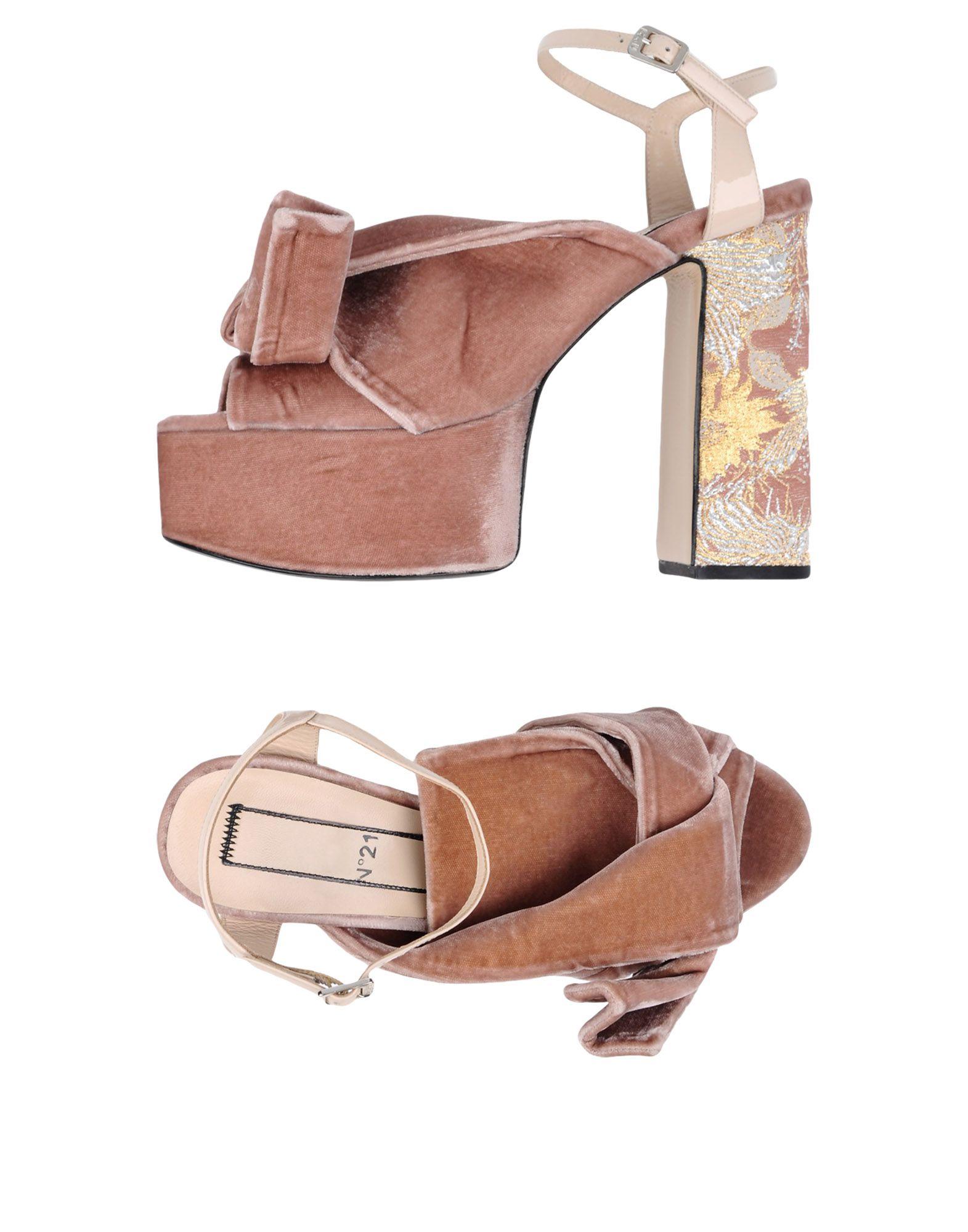 Rabatt Schuhe N° 21 Sandalen Damen  11360863IM