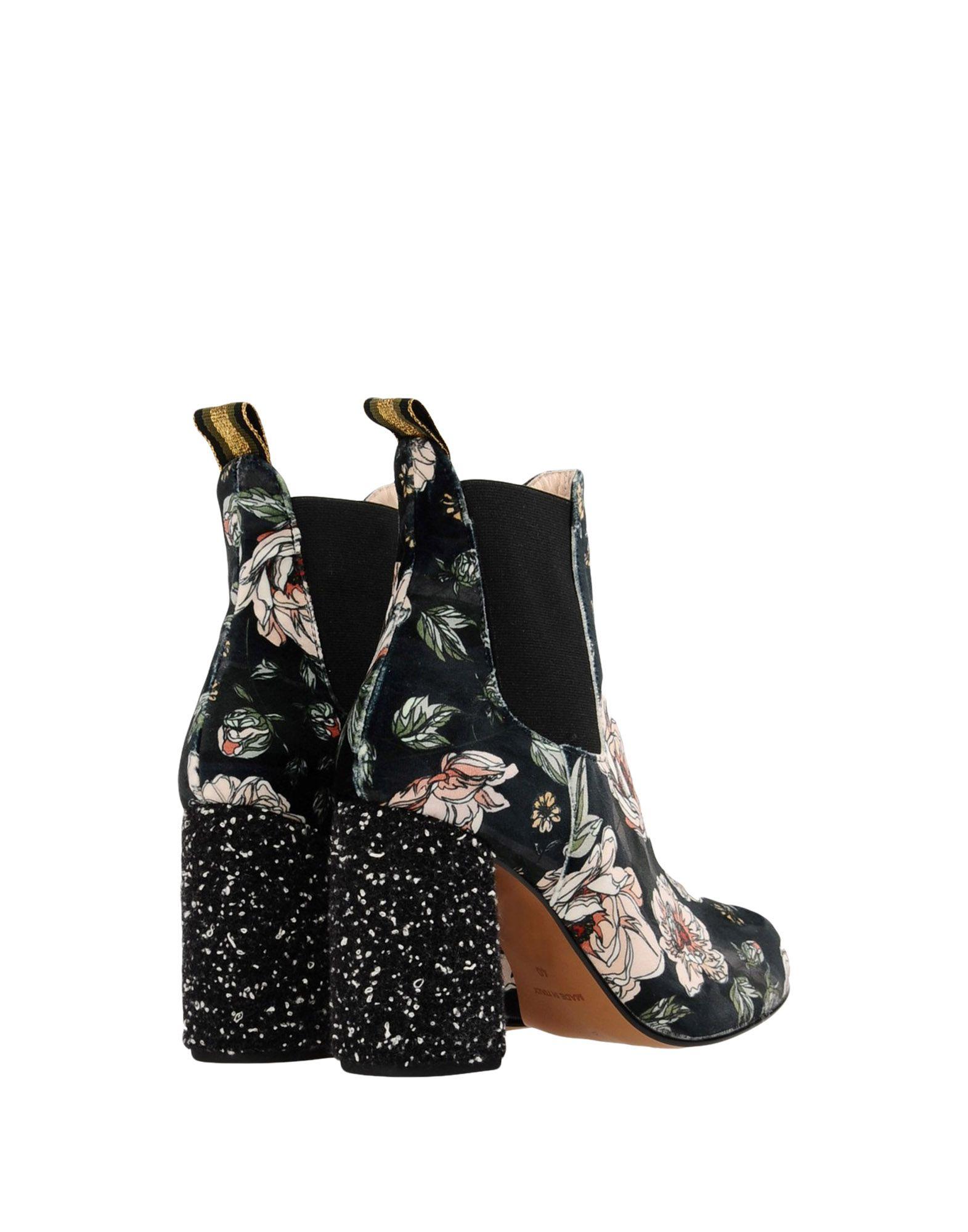 Stilvolle billige Schuhe Leo Studio Design Printed Ankle Boots  11363151BK