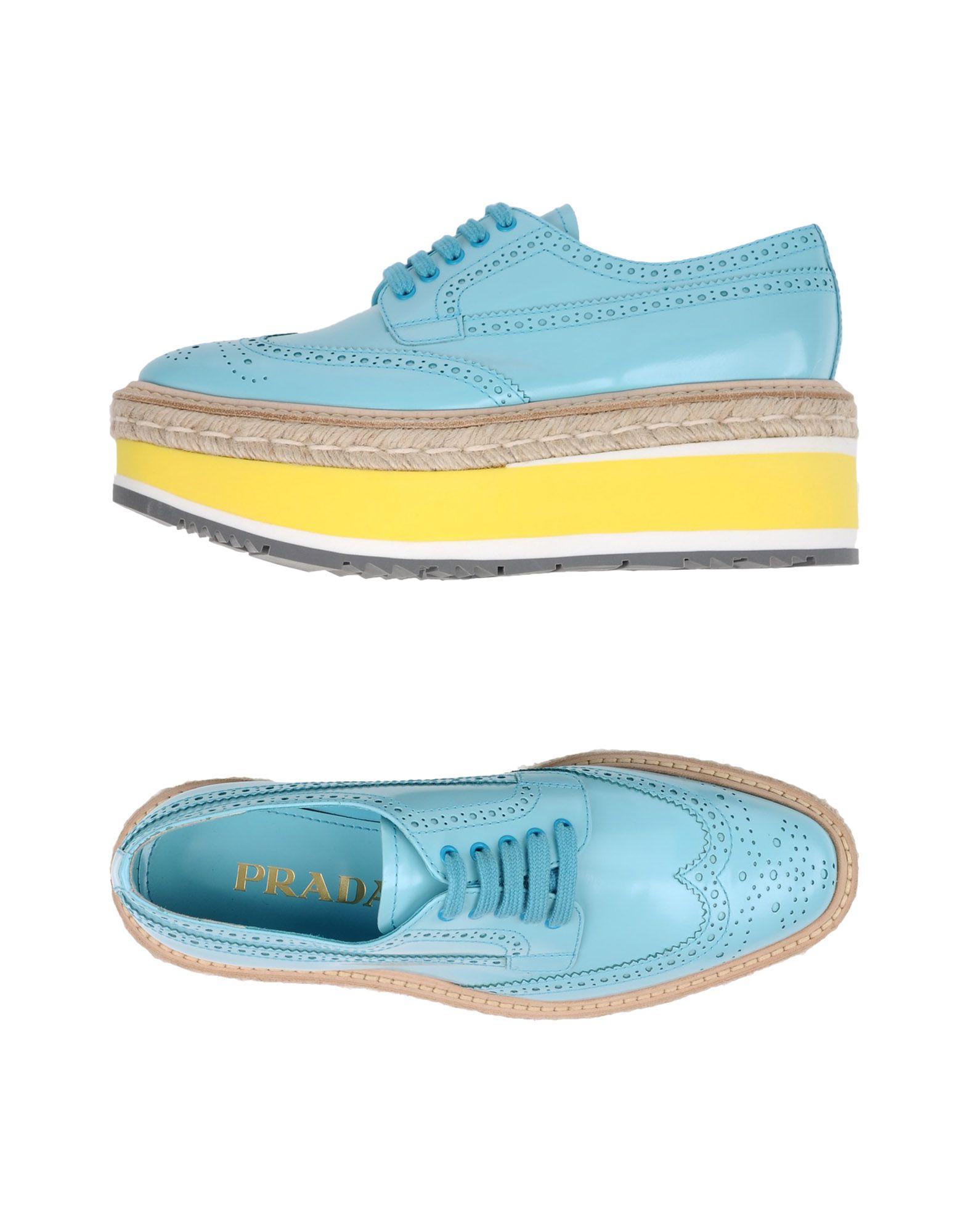 Prada Schnürschuhe aussehende Damen  11363317EJGünstige gut aussehende Schnürschuhe Schuhe f62b5e