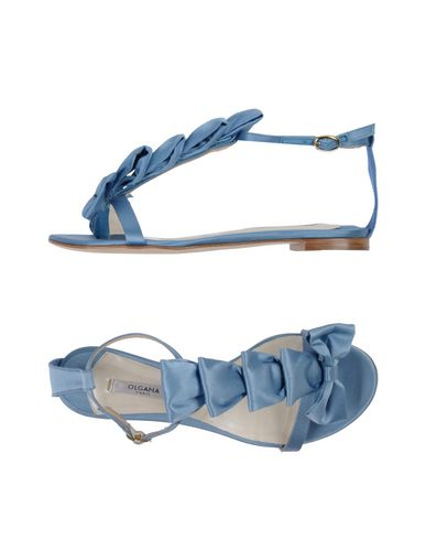 OLGANA PARIS Flip Flops in Sky Blue