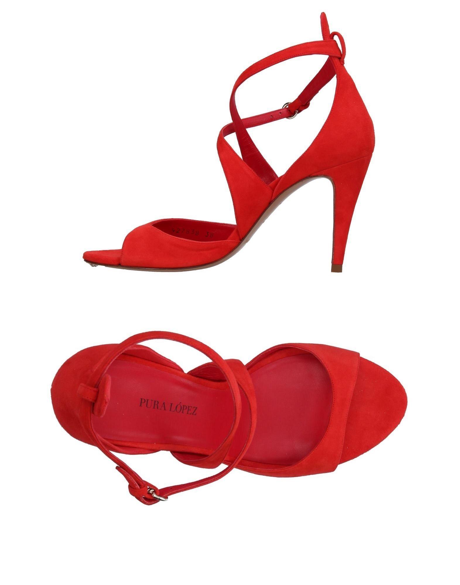 Stilvolle billige Schuhe Pura López Sandalen Damen  11367798LW