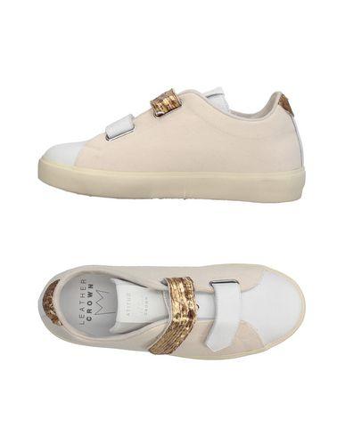 Los últimos zapatos de Leather hombre y mujer Zapatillas Leather de Crown Mujer - Zapatillas Leather Crown - 11368063HG Marfil 812bc1