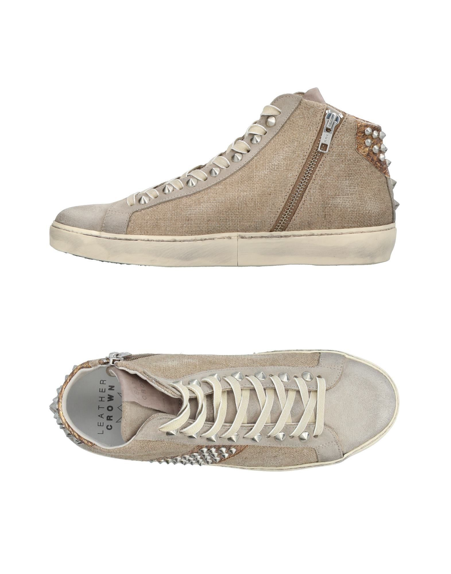 Baskets Leather Crown Femme - Chaussures Baskets Leather Crown Kaki Chaussures - casual sauvages ce812a