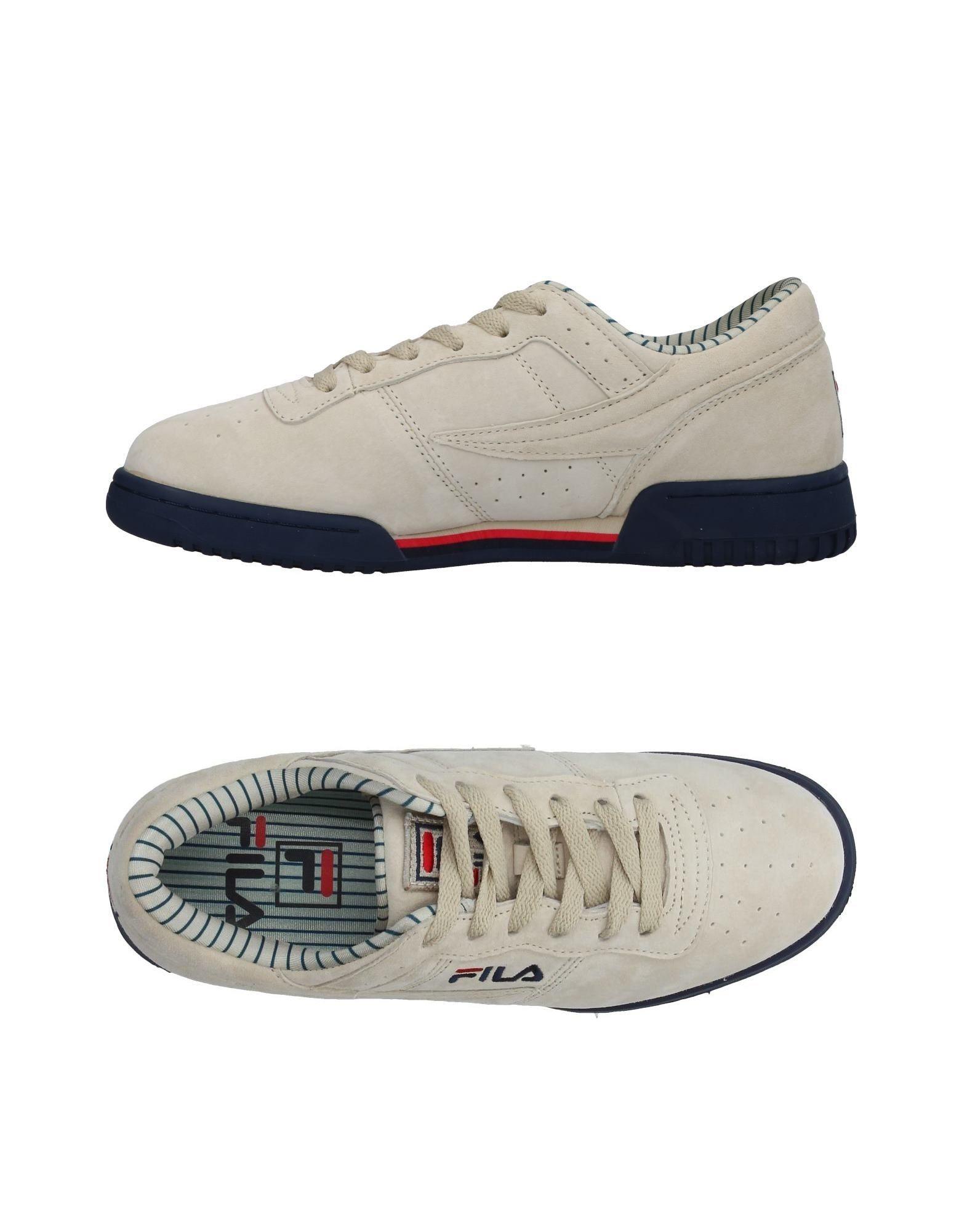 Sneakers Fila Homme - Sneakers Fila  Ivoire Dédouanement saisonnier