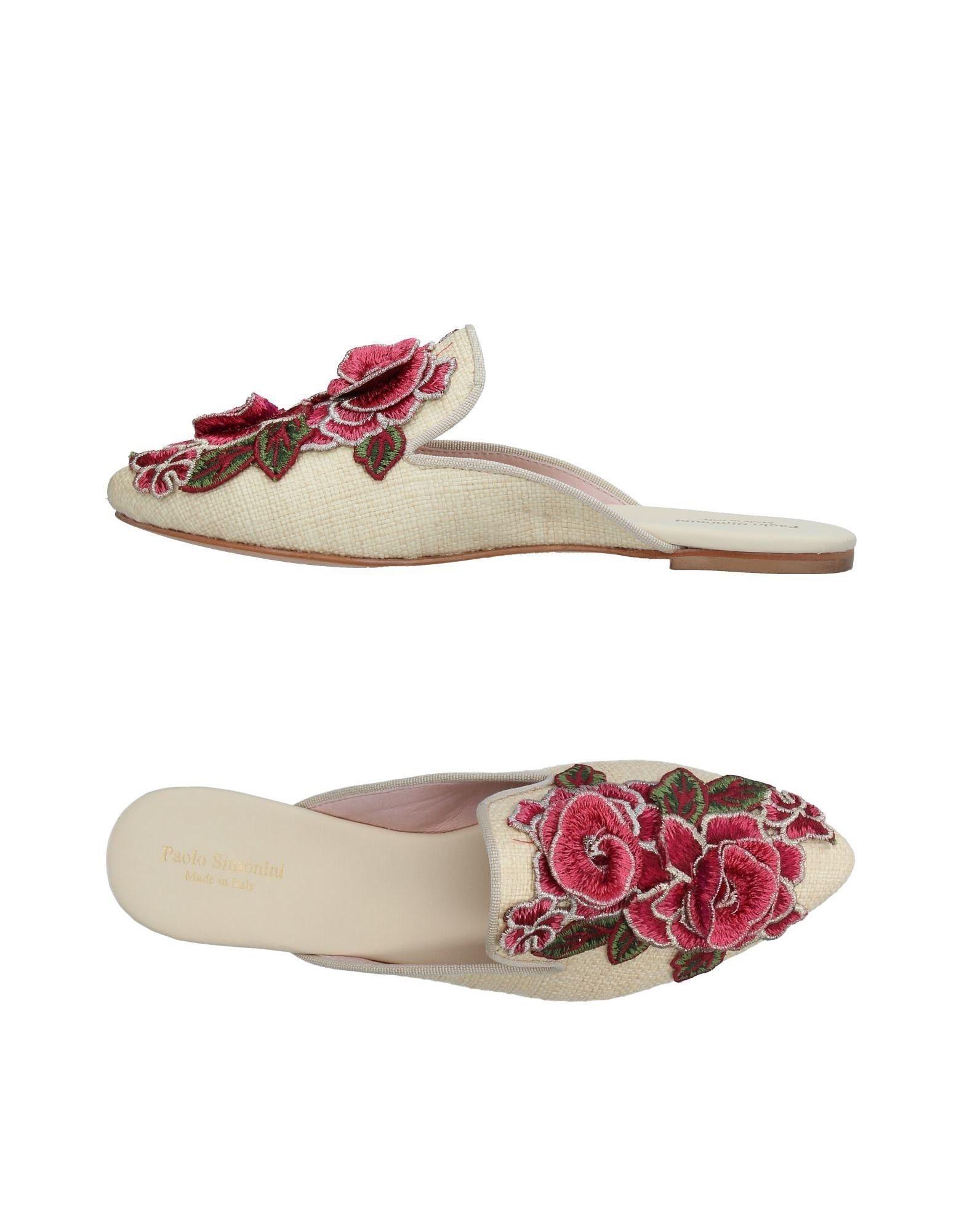 Paolo Simonini Pantoletten Damen  11375842QW Gute Qualität beliebte Schuhe
