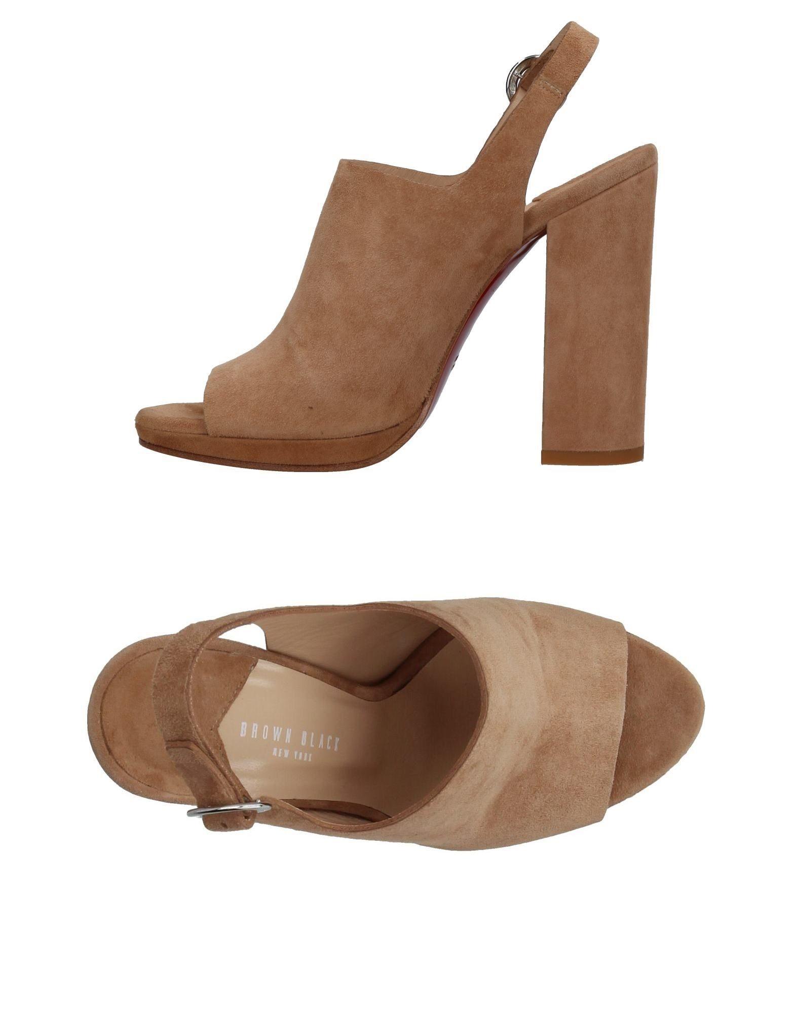 Brown Black Sandalen Damen  11376884LT Gute Qualität beliebte Schuhe