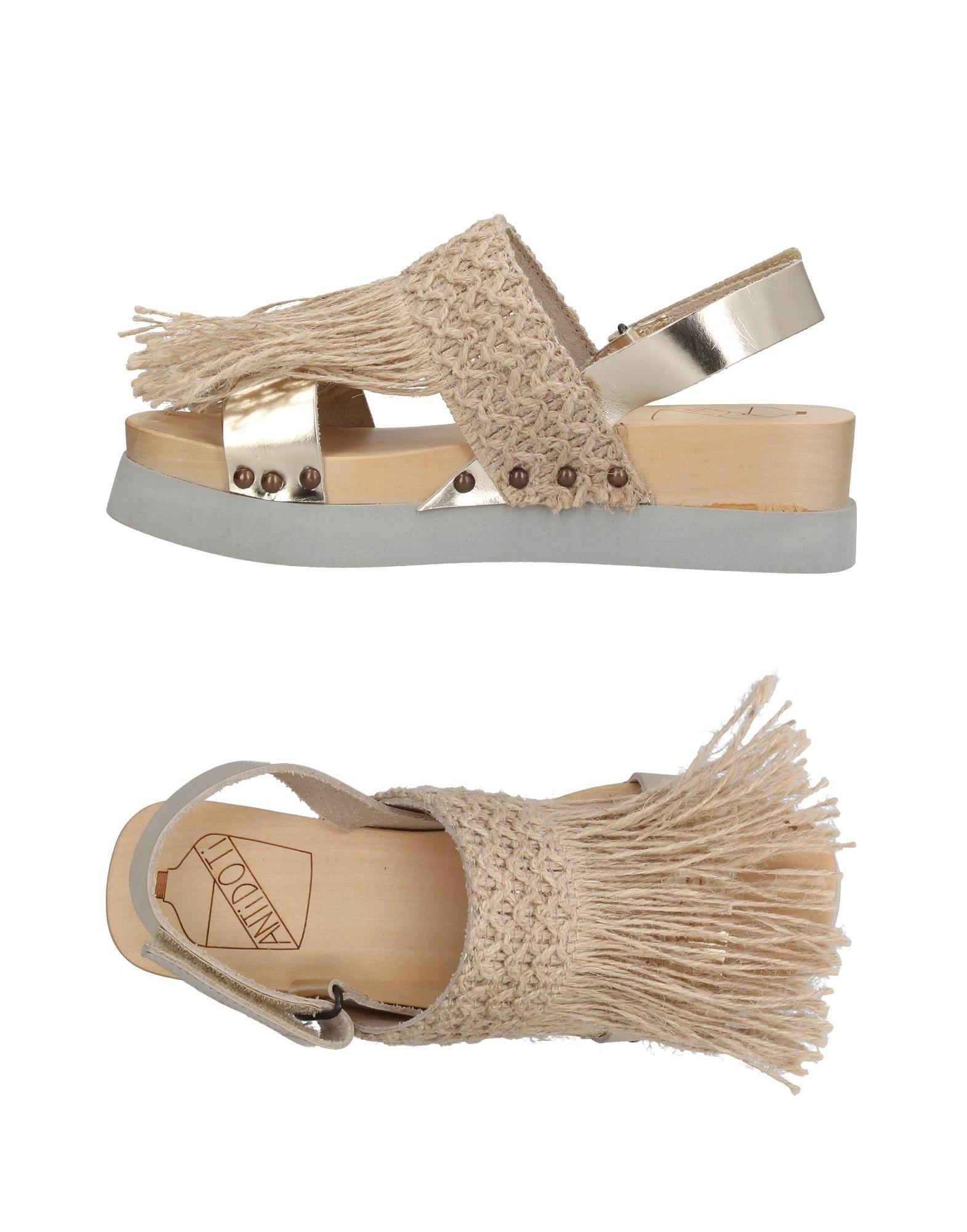 Zapatos casuales salvajes Sandalia Antidoti Mujer -  Sandalias Antidoti  - Oro f2f529