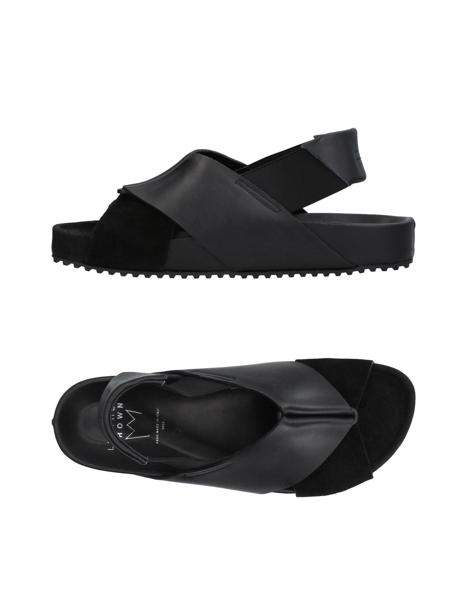 Rabatt echte Schuhe Leather Crown Sandalen Herren  11380584WG