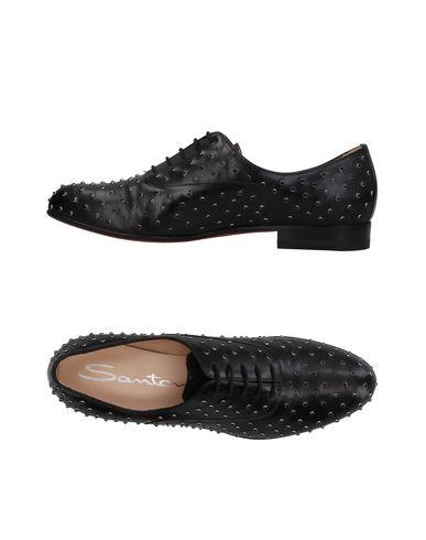 Zapato De Cordones Santoni Mujer - Zapatos De Cordones Santoni - 11388180WH Negro