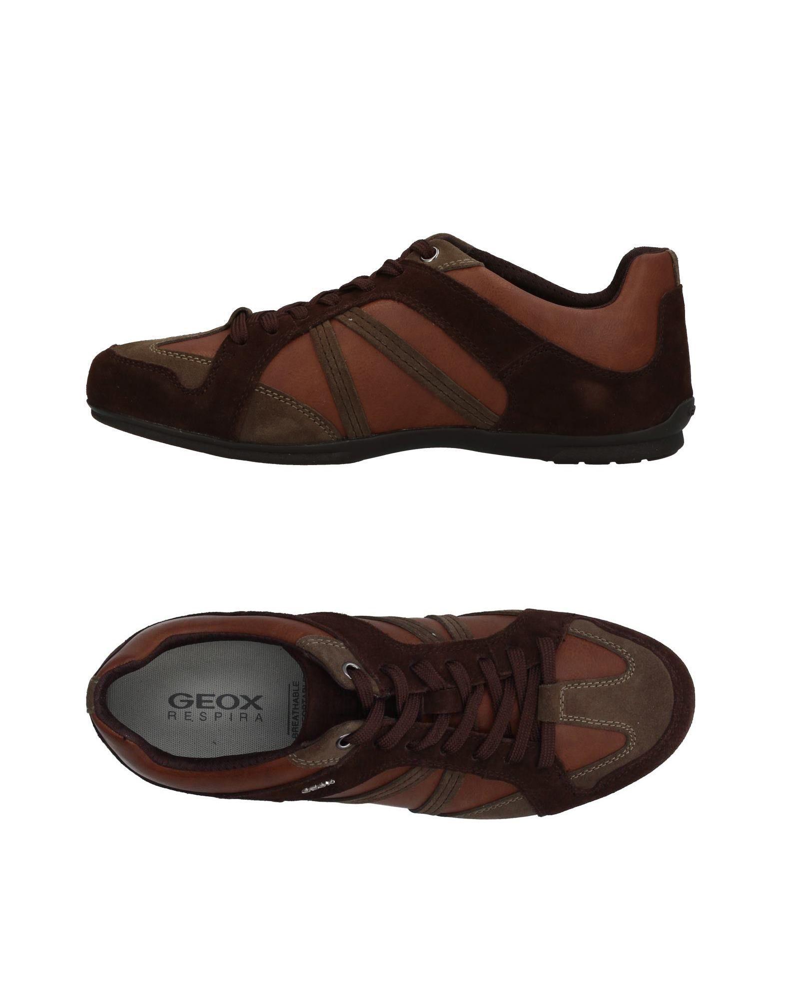 Sneakers Geox Homme - Sneakers Geox  Moka Remise de marque
