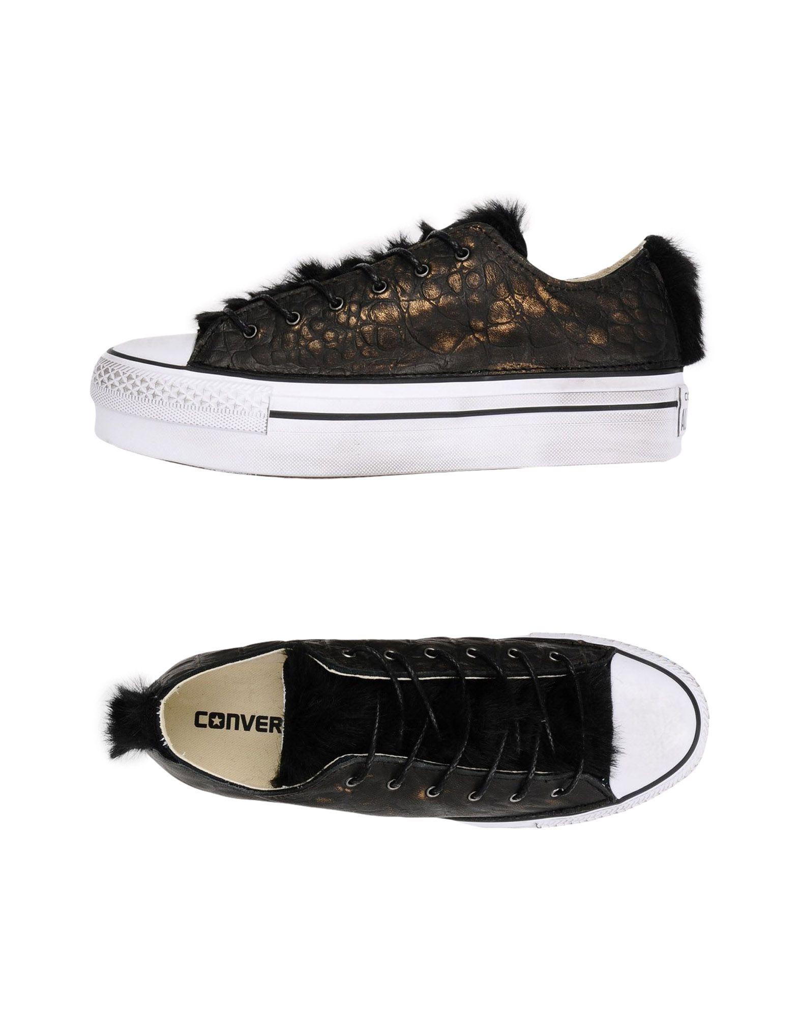 Baskets Converse Limited Edition As Ox Platform Canvas/Leather - Femme - Baskets Converse Limited Edition Noir Dédouanement saisonnier