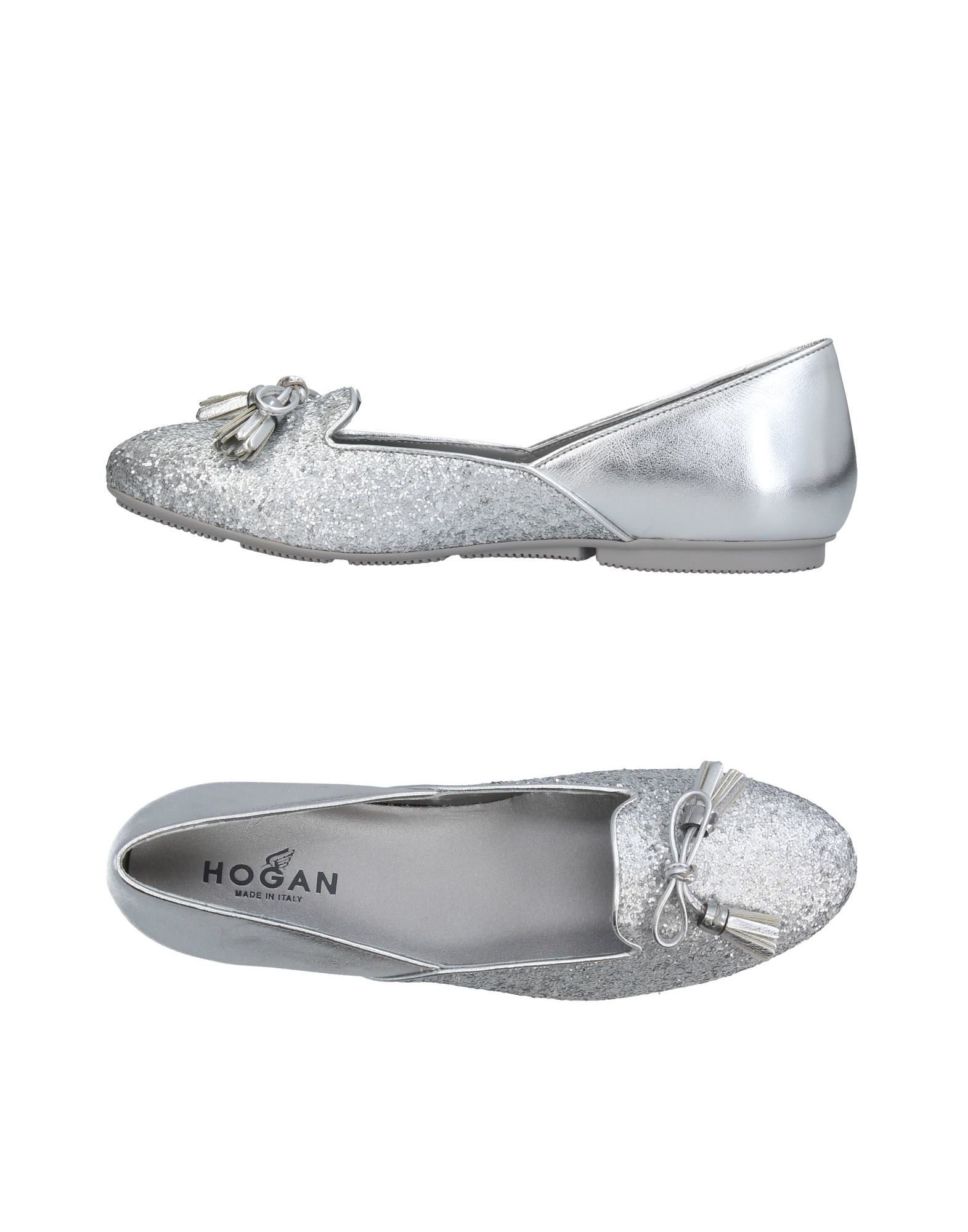 Ballet Flats Ballerina Shoes for Women On Sale, Silver, Leather, 2017, 2.5 3 3.5 4 Hogan