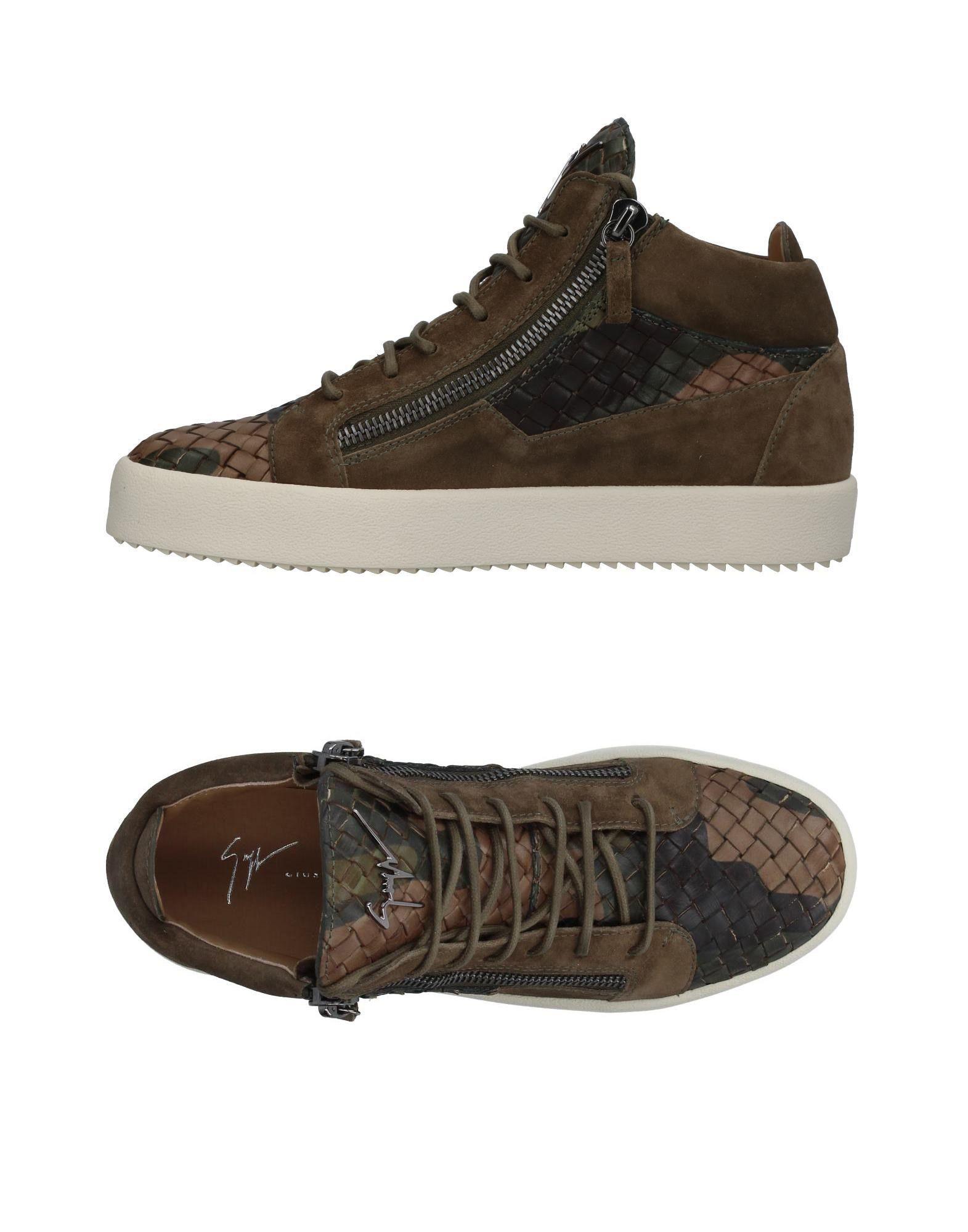 Sneakers Giuseppe Zanotti Homme - Sneakers Giuseppe Zanotti  Vert militaire Réduction de prix saisonnier, remise