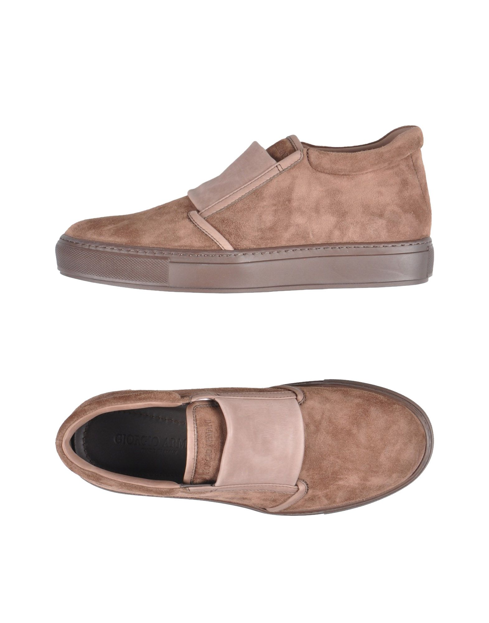 Sneakers Giorgio Armani Homme - Sneakers Giorgio Armani  Marron Spécial temps limité