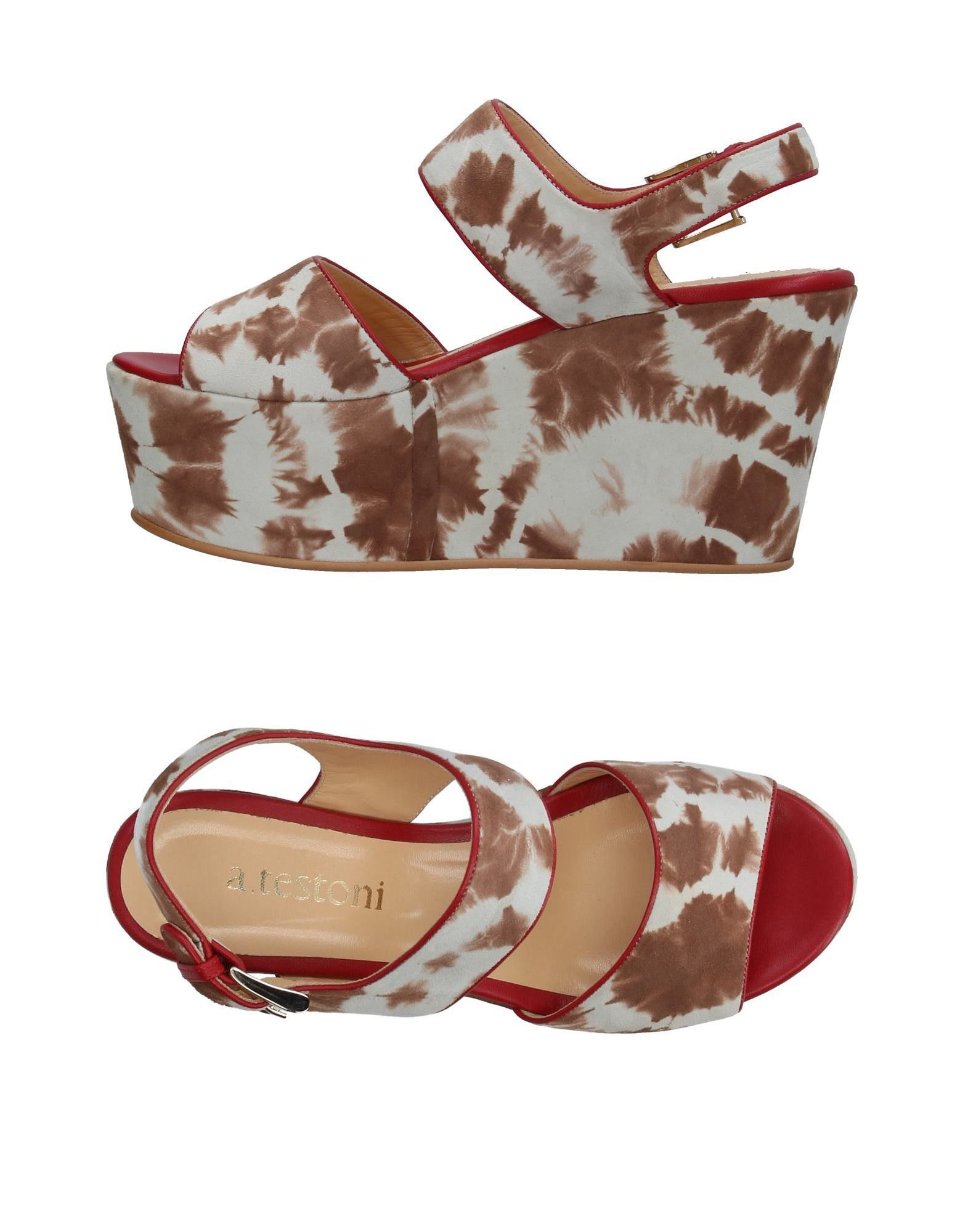 Stilvolle billige Schuhe A.Testoni Sandalen Damen  11408414UO