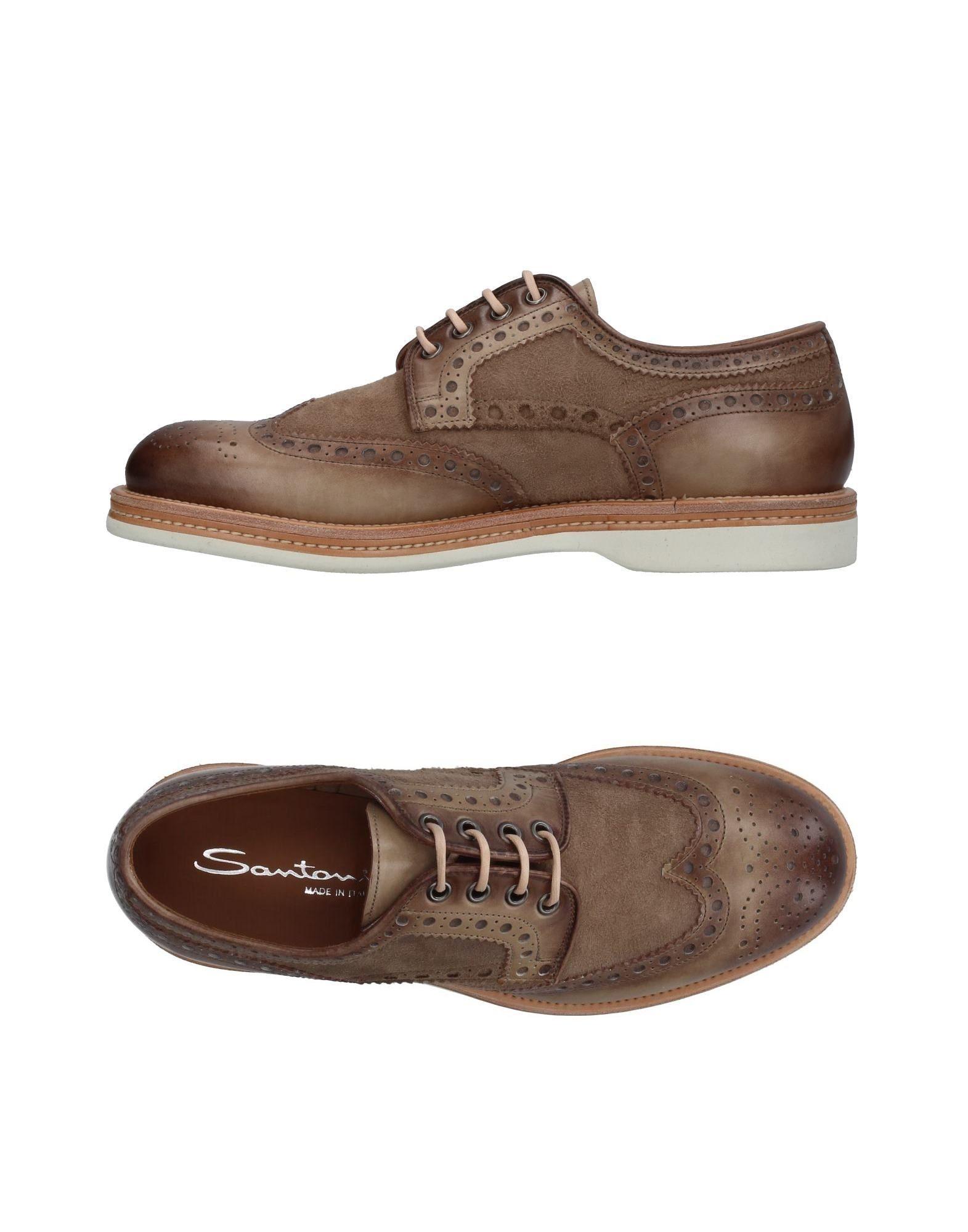 Haltbare Mode billige Schuhe Santoni Schnürschuhe Herren  11410012VT Heiße Schuhe