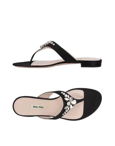Los últimos zapatos de descuento para hombres y mujeres Sandalias De Dedo Miu Miu Mujer - Sandalias De Dedo Miu Miu   - 11411847XP Negro