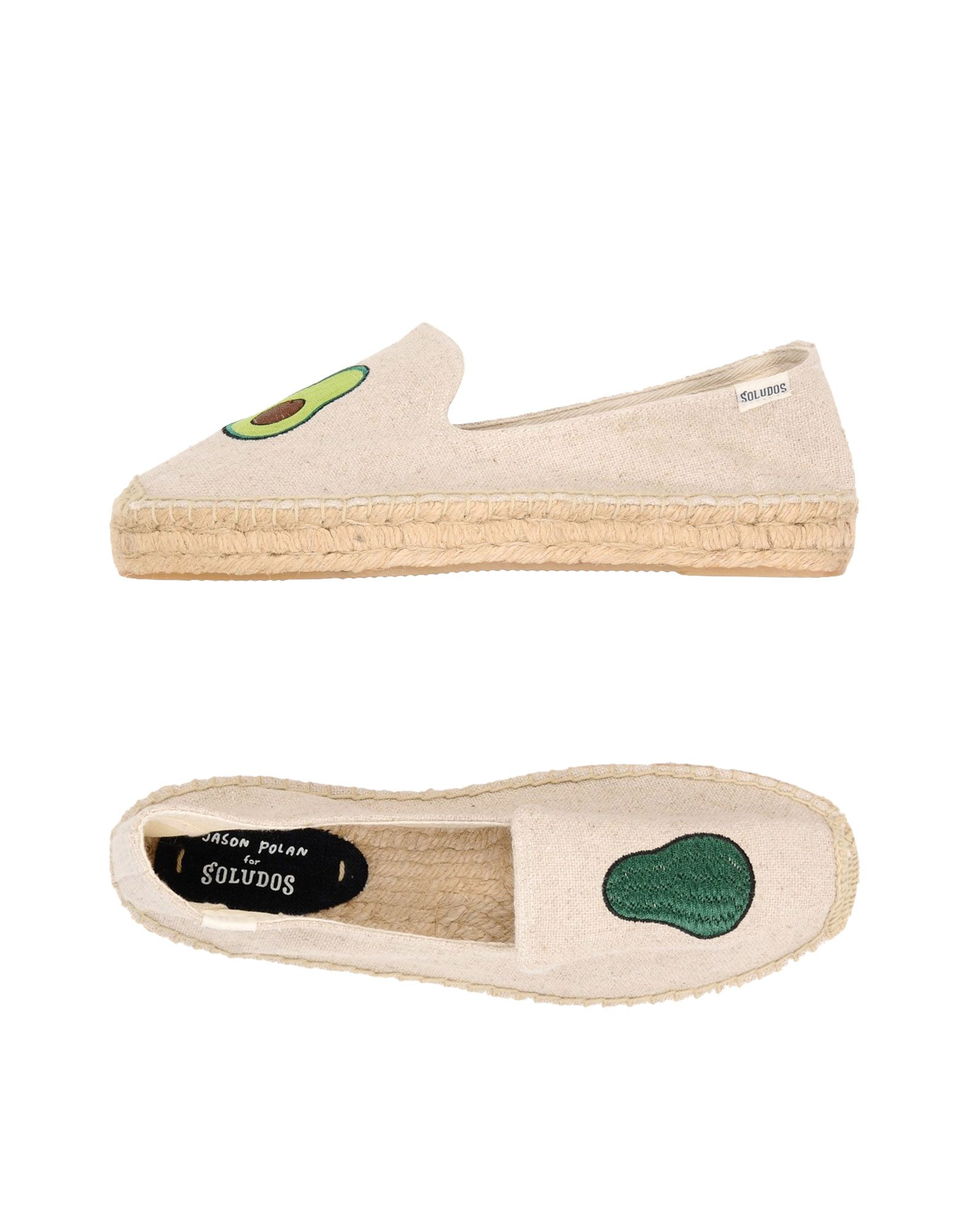 Espadrillas Soludos Jason Polan Avocado Platform Smoking Slipper - Donna - Acquista online su