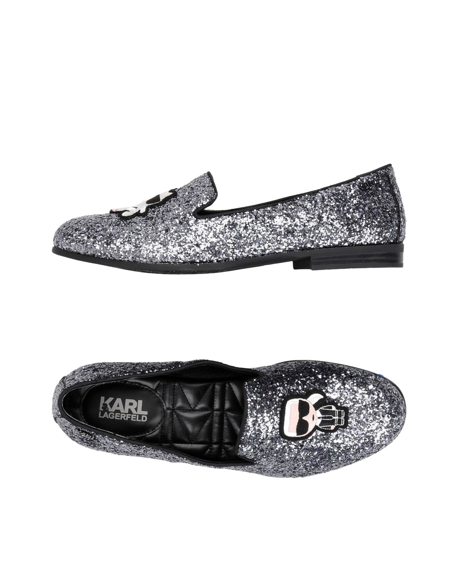 Stilvolle billige Schuhe Karl Lagerfeld Salotto Ikonic Slipper  11423791UO
