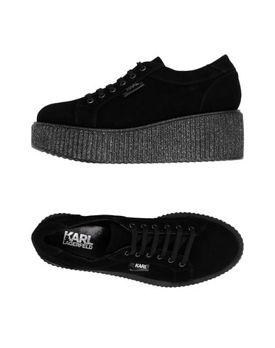 KARL LAGERFELD KREEPER Lace Shoe Suede Chaussures