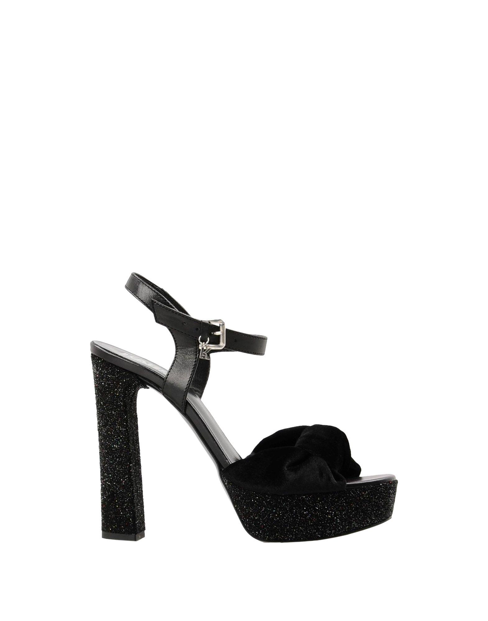 Sandali Karl Lagerfeld Soiree Open Sandal Velvet - Donna - 11424018LJ