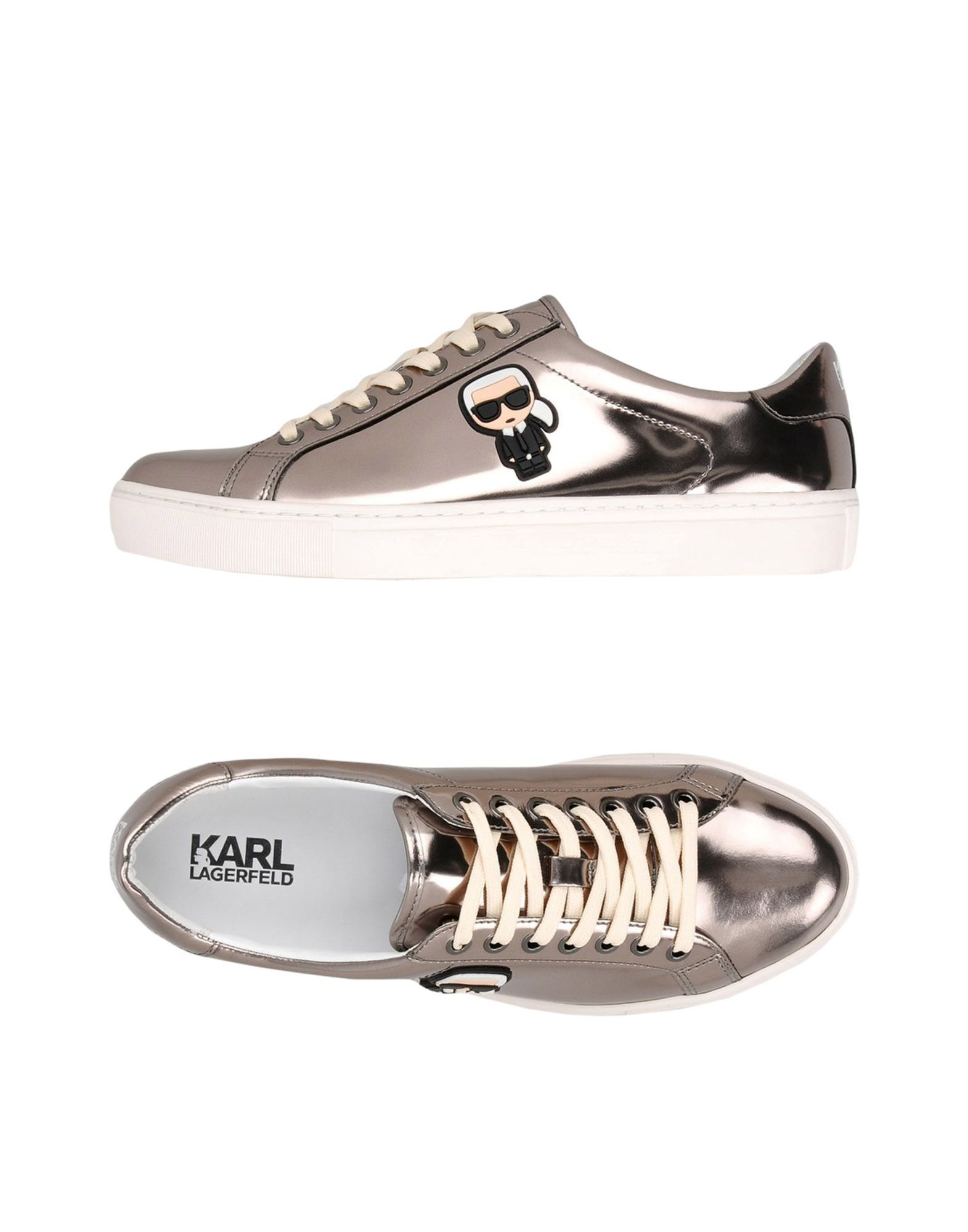 Baskets Karl Lagerfeld Kupsole Karl Ikonic Lo Lace - Femme - Baskets Karl Lagerfeld Plomb Dernières chaussures discount pour hommes et femmes
