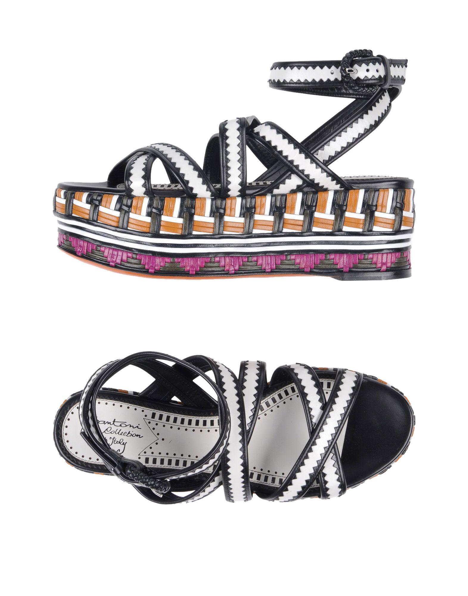 Rabatt Schuhe Santoni Sandalen Damen  11424081HX