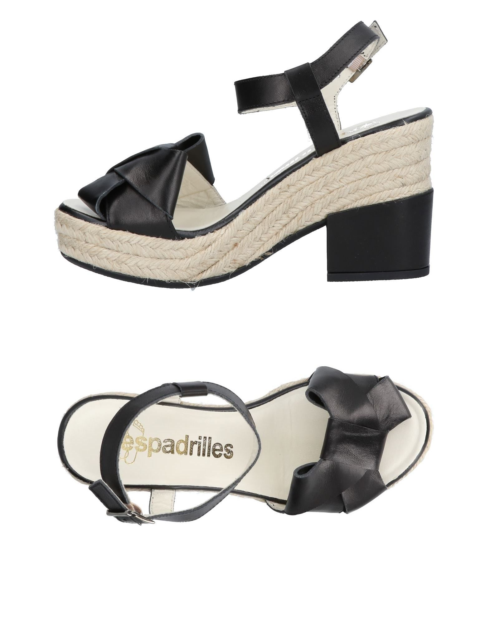 Cómodo y bien parecido Sandalia Sandalia parecido Espadrilles Mujer - Sandalias Espadrilles  Negro 93345c