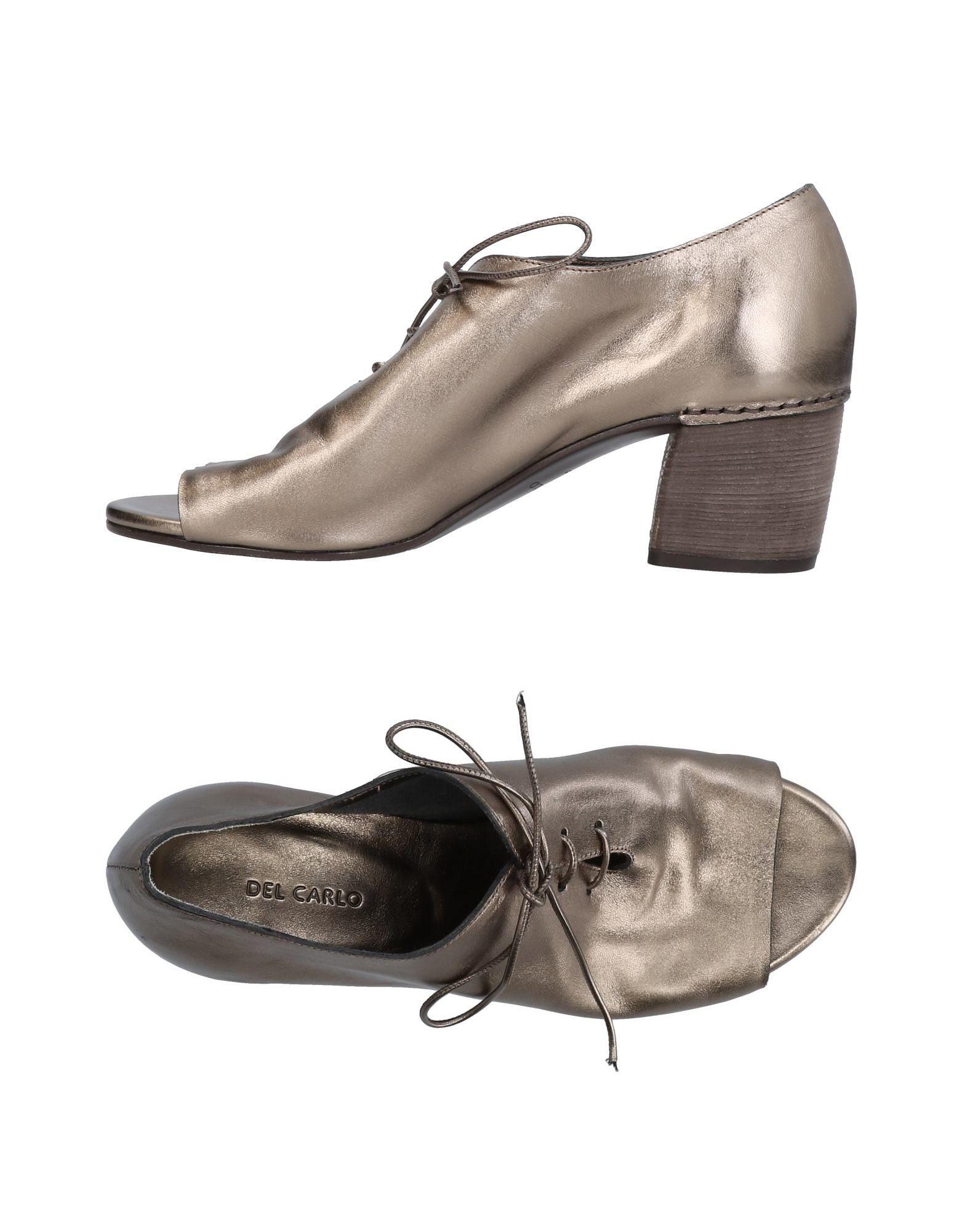 Stilvolle billige Schuhe Del Carlo Schnürschuhe Damen  11425956JD