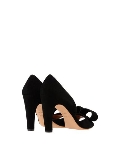 Chie Mihara black suede sandal with a suede bow