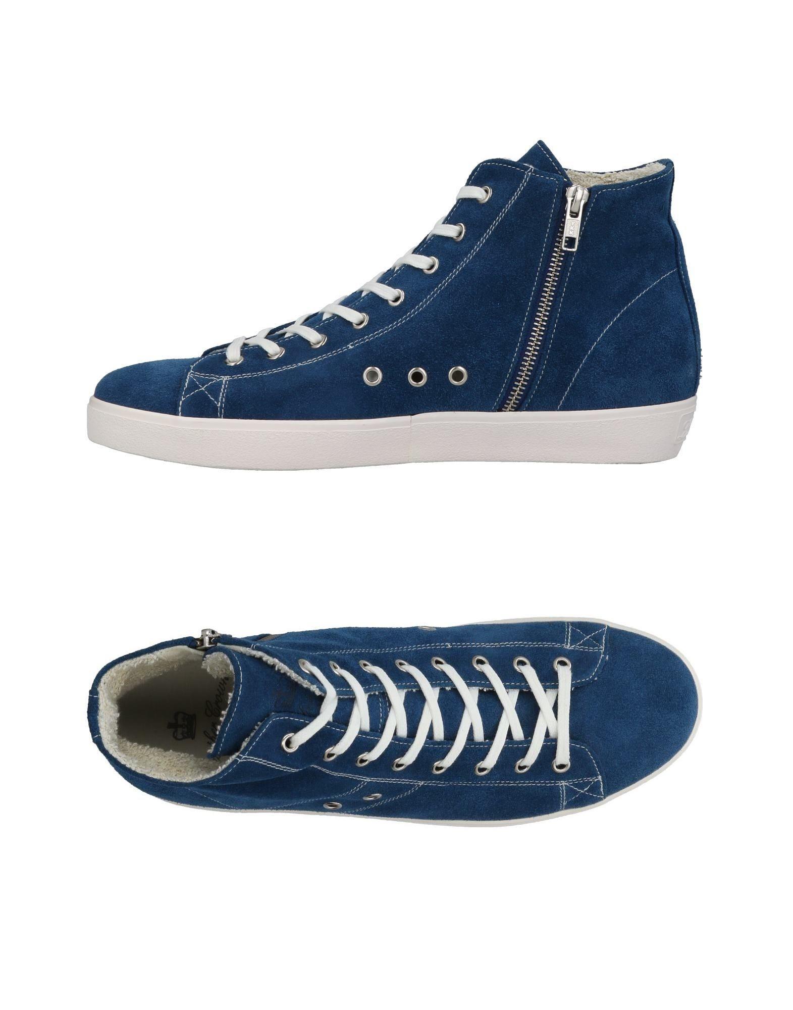 Rabatt echte Schuhe Leather Crown Sneakers Herren  11434256DP