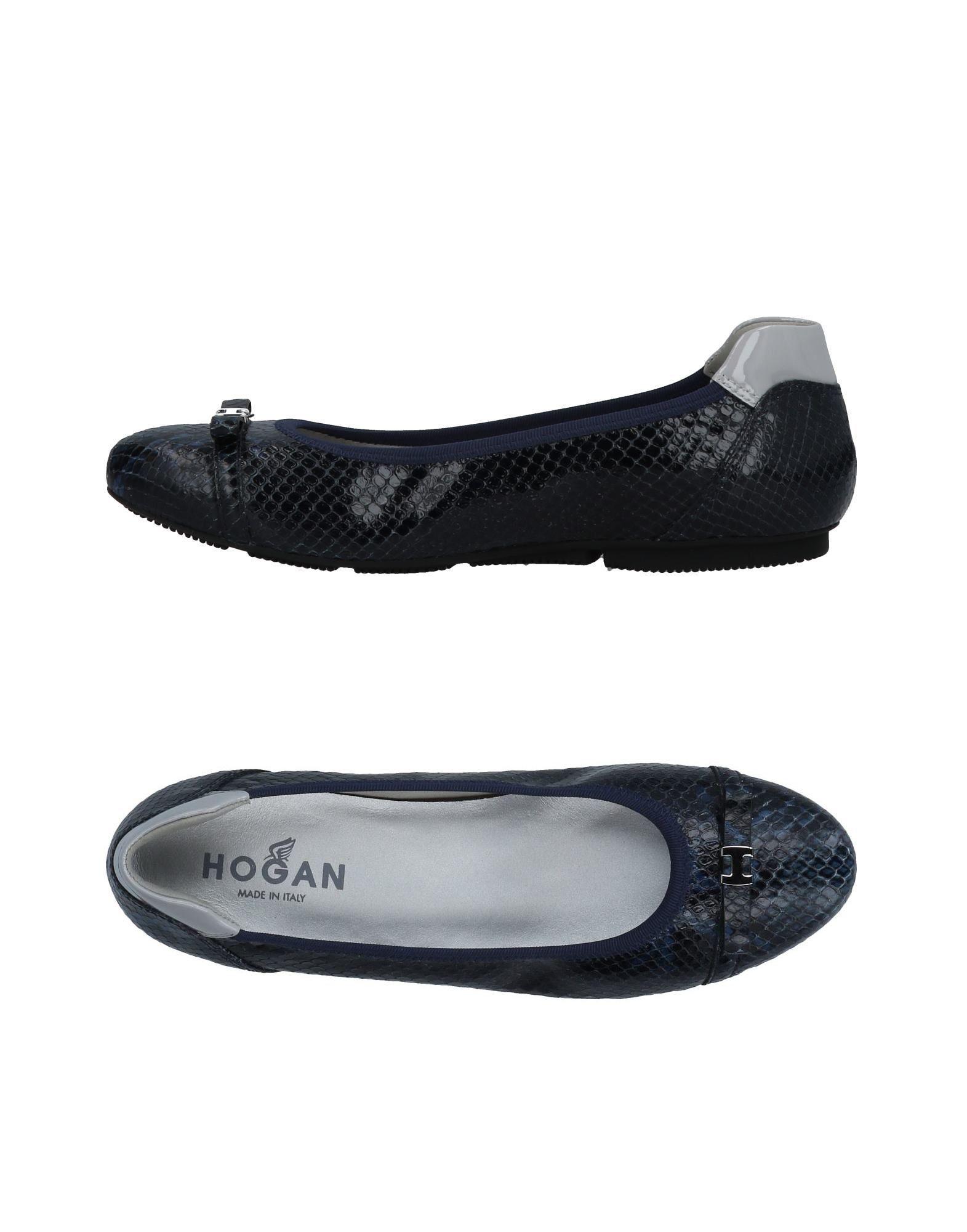 Ballet Flats Ballerina Shoes for Women On Sale, Dark Blue, Leather, 2017, 5.5 Hogan