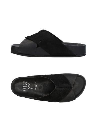 Los zapatos más populares para hombres y mujeres - Sandalia Leather Crown Mujer - mujeres Sandalias Leather Crown - 11436636QV Negro 551f5f
