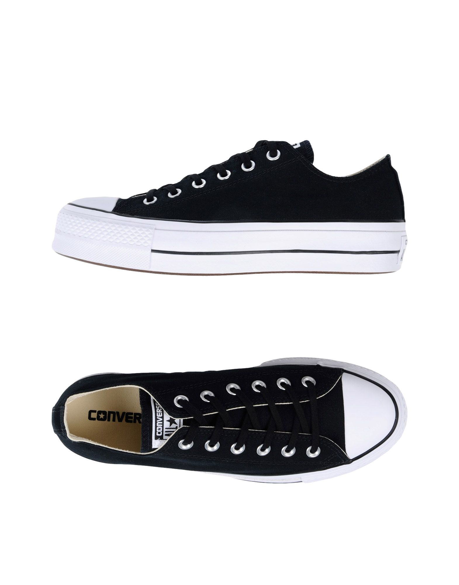 Baskets Converse All Star Ctas Ox Lift Clean Core Canvas - Femme - Baskets Converse All Star Noir Chaussures casual sauvages