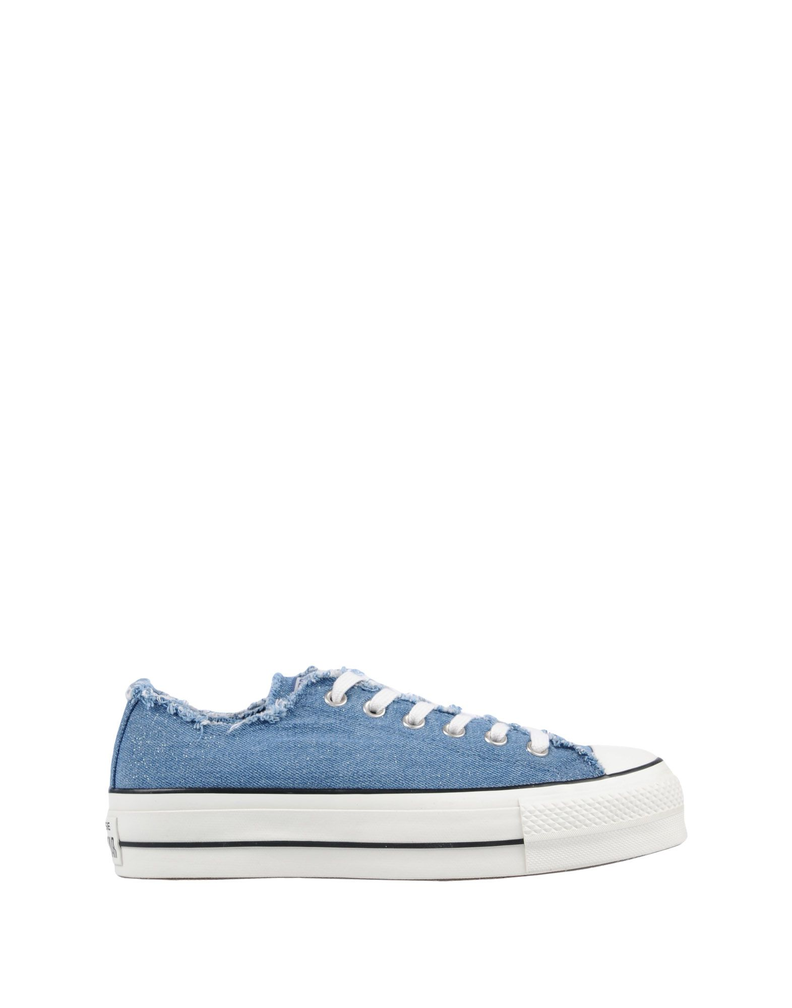 Sneakers Converse All Star Ctas Ox Clean Lift Denim Frayed - Femme - Sneakers Converse All Star sur