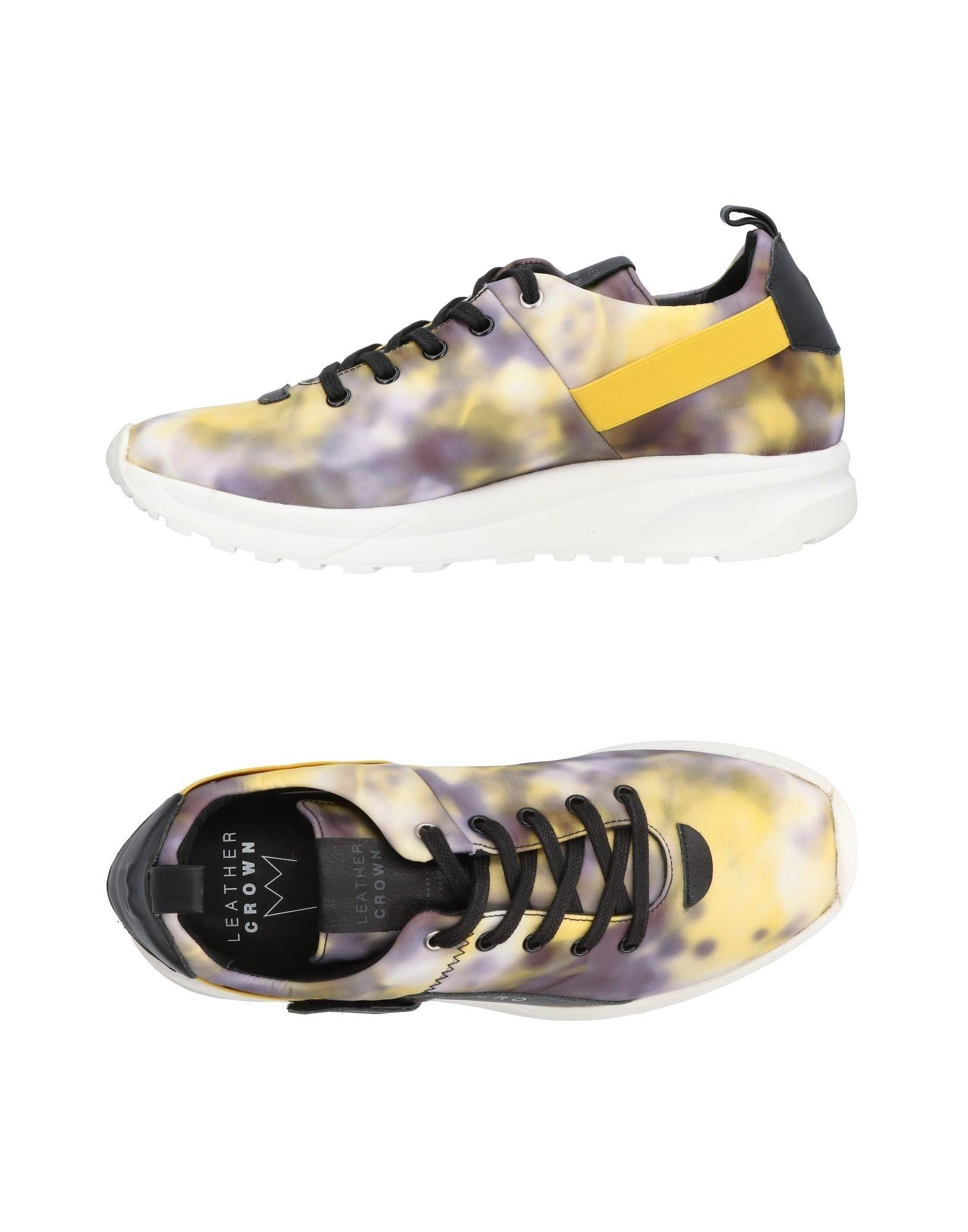 Rabatt echte Schuhe Leather Crown Sneakers Herren  11438200OE