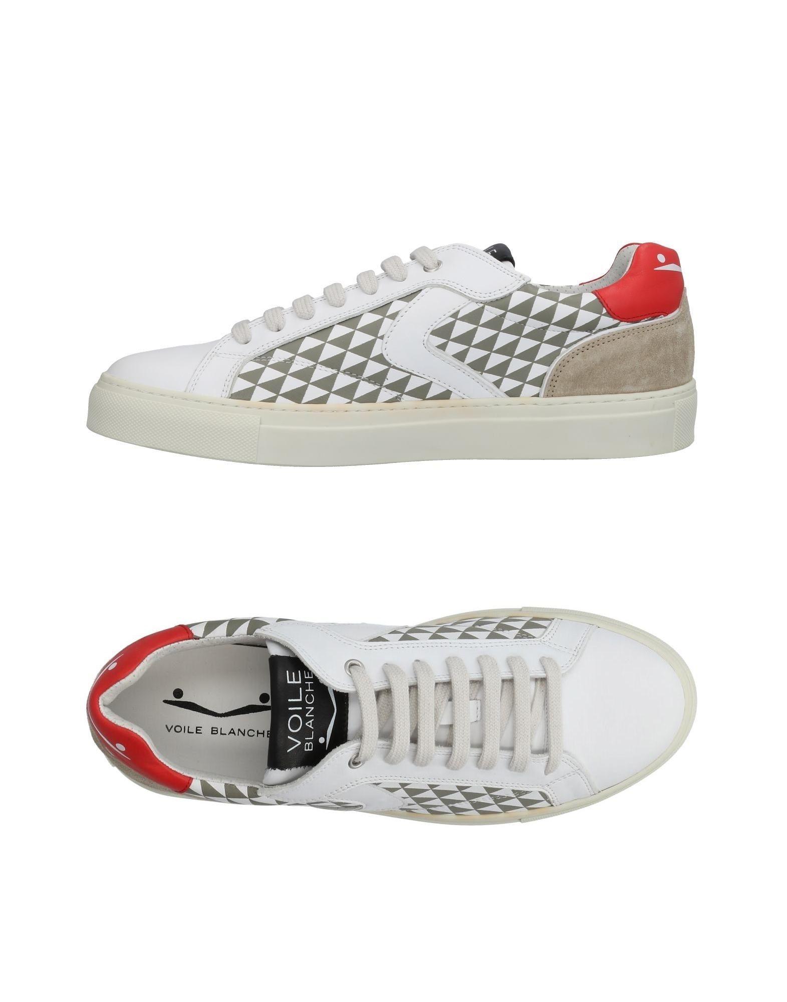 Sneakers Voile Blanche Homme - Sneakers Voile Blanche  Blanc Dernières chaussures discount pour hommes et femmes