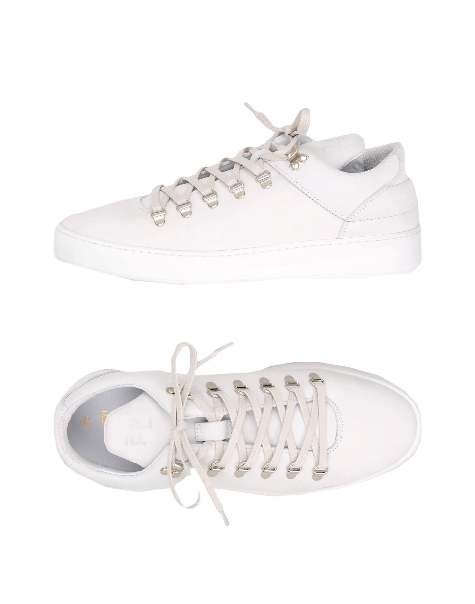 Sneakers Filling Pieces Mountain Cut Plain Basic All White - Homme - Sneakers Filling Pieces  Blanc Chaussures femme pas cher homme et femme