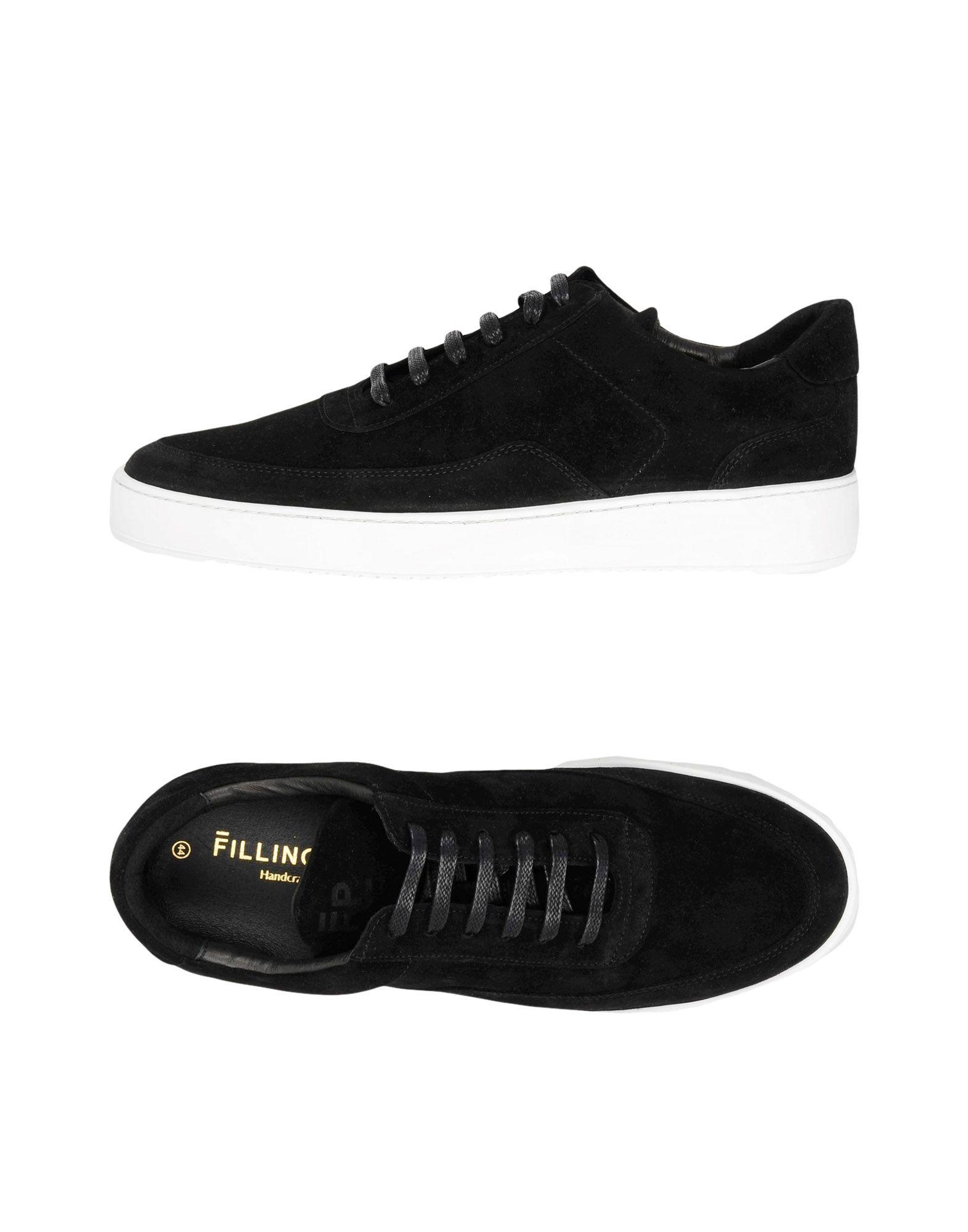Sneakers Filling Pieces Low Mondo Ripple Nardo Suede Black - Uomo - 11441814CB