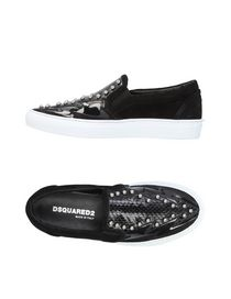 Women DSQUARED2 Sneakers Soft Leather Black YY54053