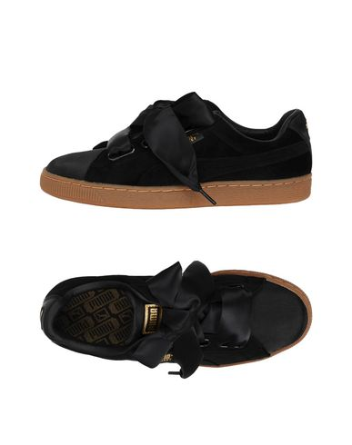 puma basket heart nere