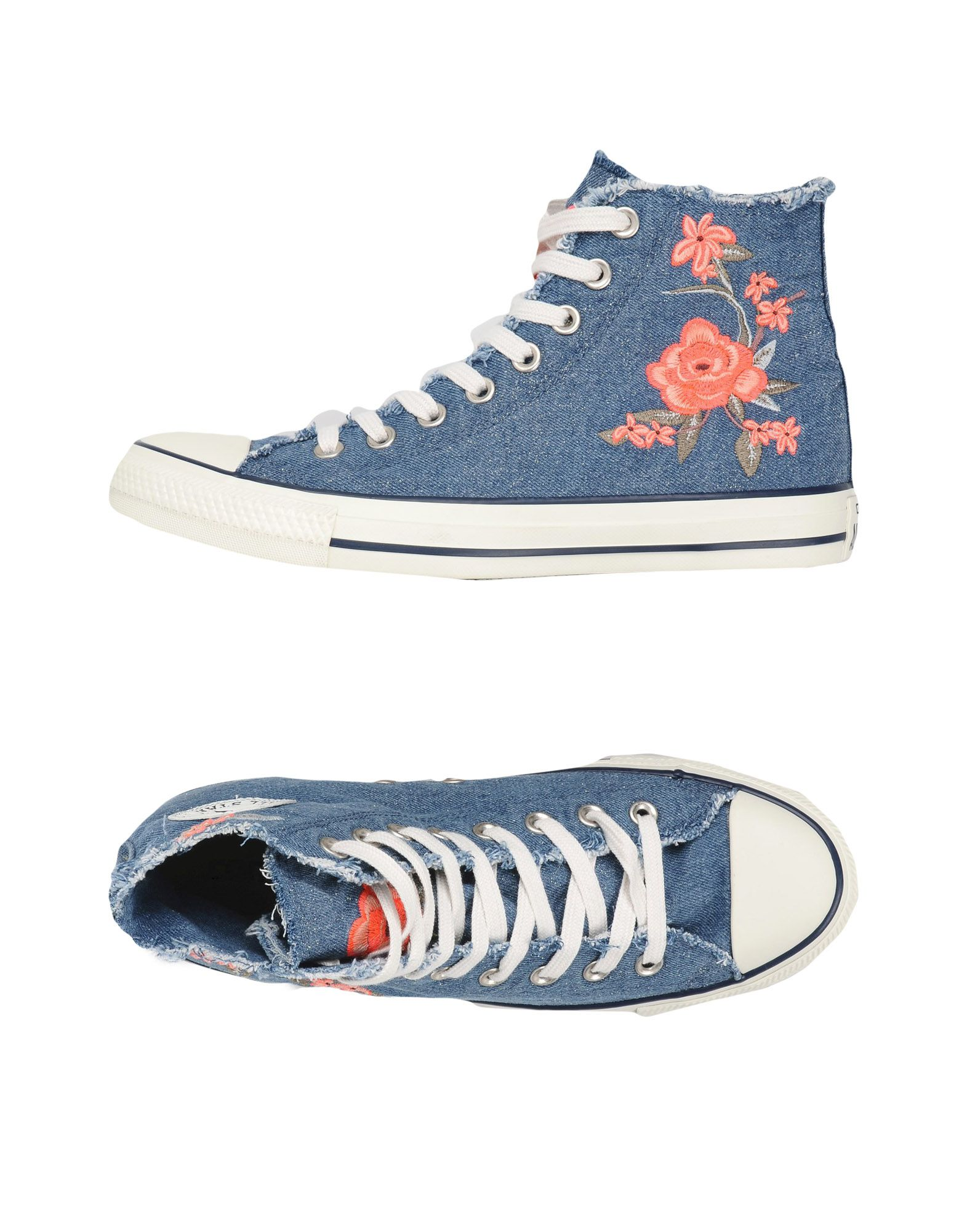 Sneakers Converse All Star Ctas Hi Denim Frayed Flower - Donna - 11445742CO