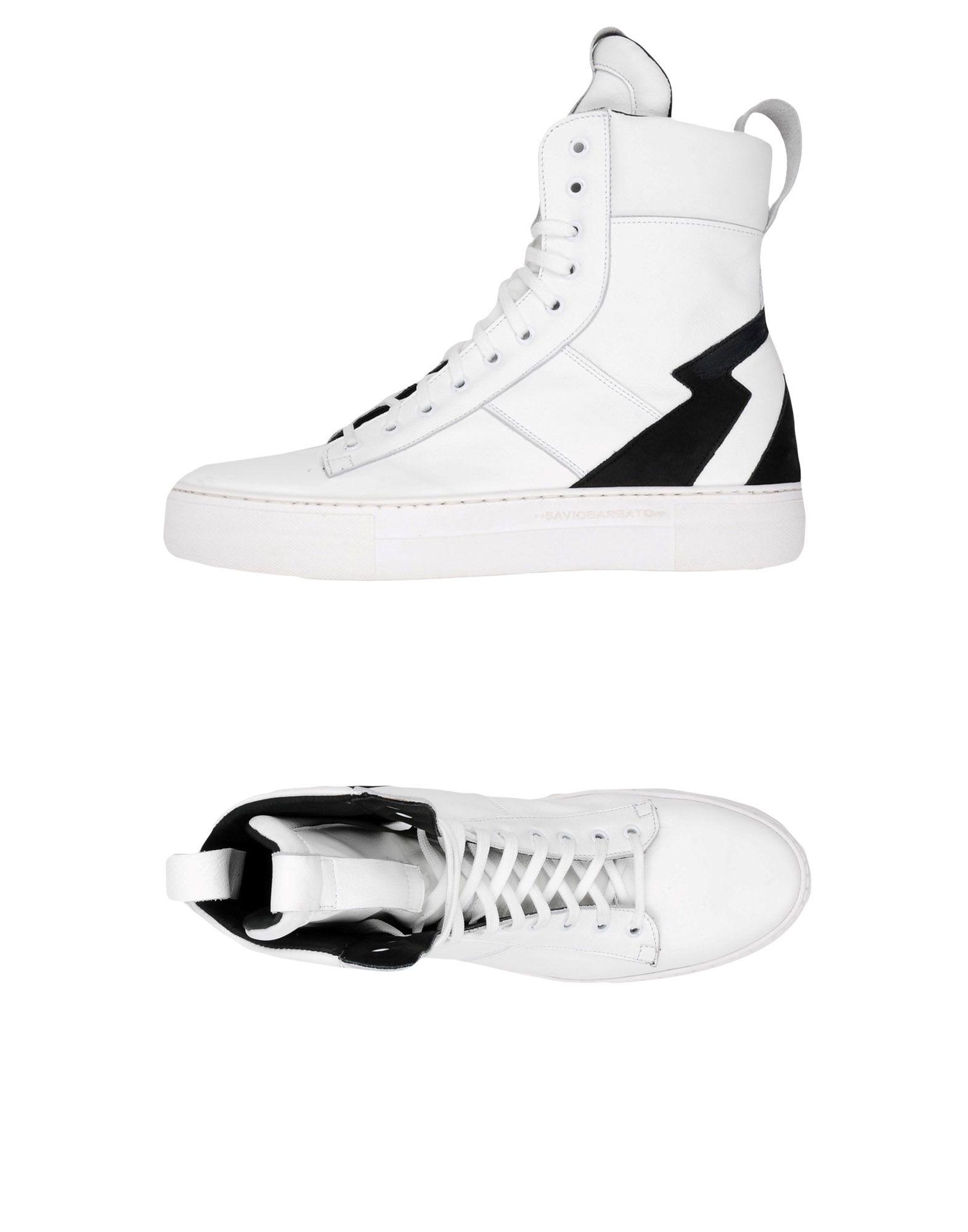 Sneakers Savio Barbato Homme - Sneakers Savio Barbato  Blanc Super rabais
