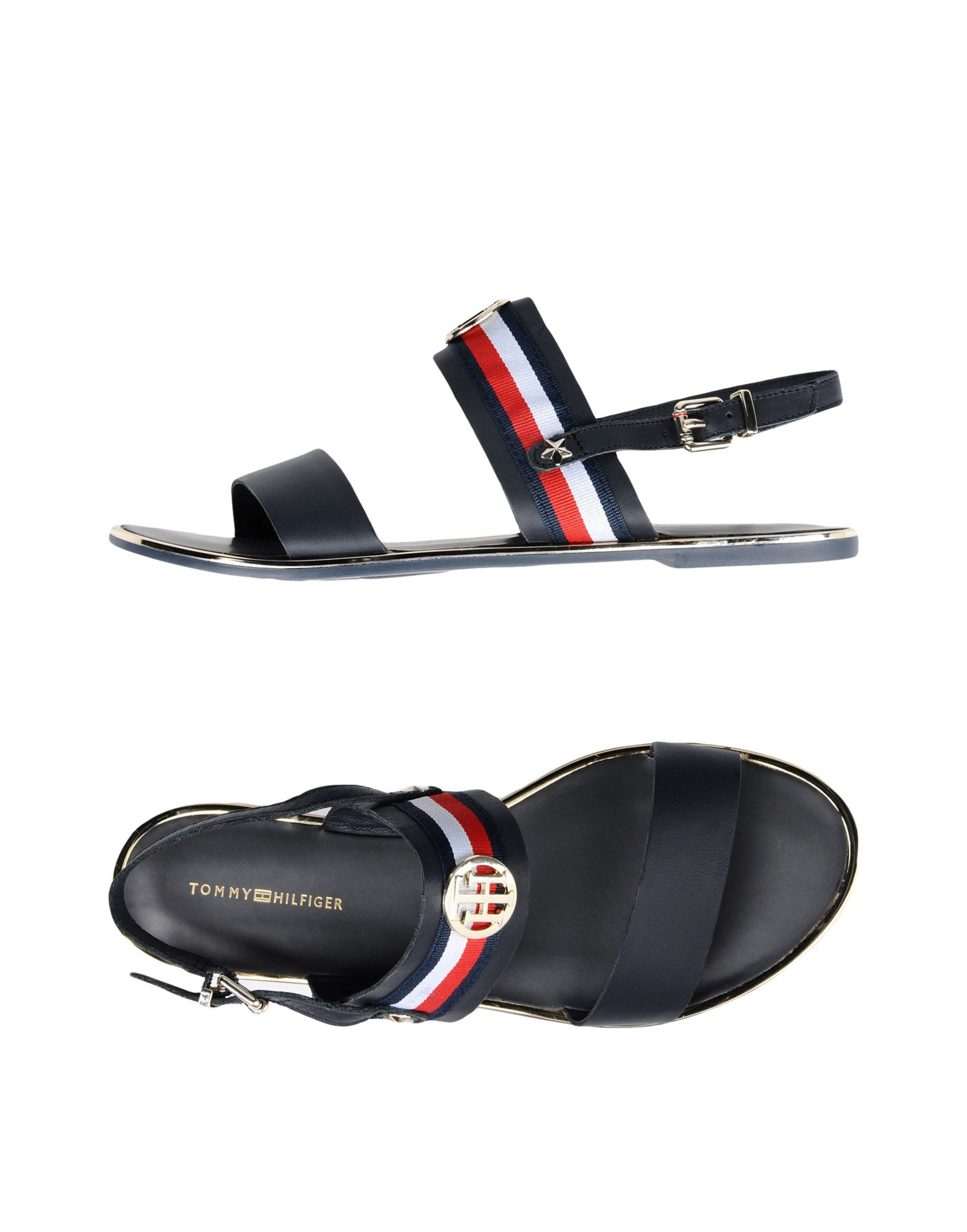 Sandales Tommy Hilfiger Corporate Ribbon Flat Sandal - Femme - Sandales Tommy Hilfiger sur