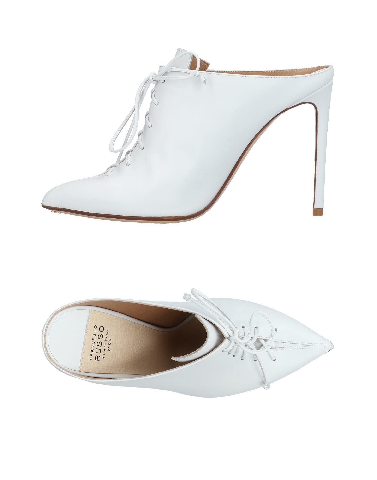 Francesco Russo Pantoletten aussehende Damen  11448969SQGünstige gut aussehende Pantoletten Schuhe b86450
